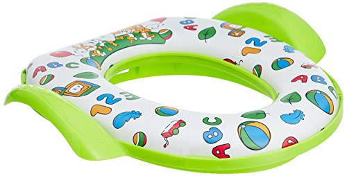 Amazon Brand - Solimo Baby Potty Training Seat with Cushion, Green (Baby Product)