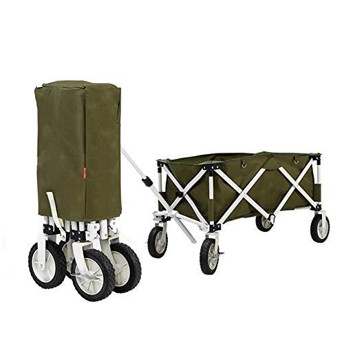 Y & Z Opvouwbare Camping Wagon met Wielen Outdoor Draagbare Opvouwbare Camping Grote Capaciteit Opslag met Bandjes Kamp Auto