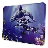 シャチ 海 マウスパッド 18 X 22cm 滑り止め 防水 おしゃれ 洗える ビジネス用 家庭用 ゲーム用