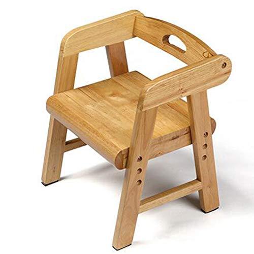 WENYC kinderstoel, ligstoel, leerstoel, kinderstoel van massief hout, kleine bank, eetkamerstoel, met armleuningen