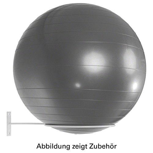 Ballhalter für 1 Gymnastikball Wandhalterung Aufbewahrungshilfe Wandhalter WEIß