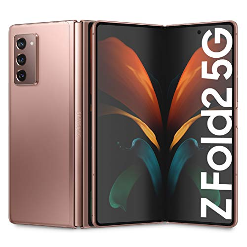 "Samsung Galaxy Z Fold2 5G Smartphone, Display ext.6.2"" Super AMOLED / int. 7.6"" Dynamic AMOLED 2x, 256GB, RAM 12GB, Batteria 4500 mAh, 5G, NanoSIM, Android 10, Mystic Bronze, [Versione Italiana] 2020"