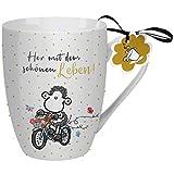 Sheepworld 59605 Lieblingstasse Her mit dem schönen Leben, Teetasse, Porzellan, 30 cl Tasse