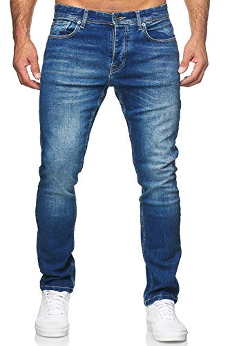 MERISH Jeans Herren Slim Fit Jeanshose Stretch Denim Designer Hose (33-32, 504-3 Denim)