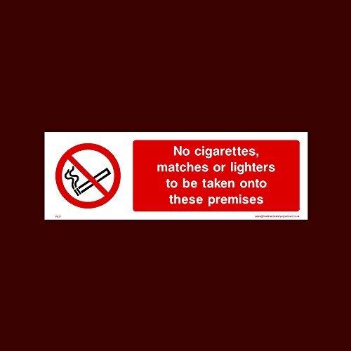 Geen sigaretten, lucifers of aanstekers om mee te nemen op deze voorvallen Sticker teken grappige waarschuwing Stickers voor eigenschap, veiligheid teken Sticker Lables, zelfklevende Vinyl Decal