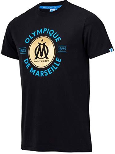 Olympique de Marseille - Camiseta oficial para hombre, talla, Hombre, Negro ,...
