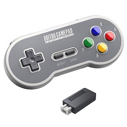 QUMOX 8Bitdo SF30 2.4G Controlador inalámbrico Gamepad Mando de Juego para Nintendo SFC Classic Edition