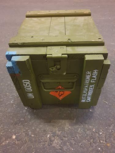 Kistenkolli Altes Land Dänische Munititionskiste Box M00 Holz-kiste-Truhe Schatzkiste Militärkiste - 4
