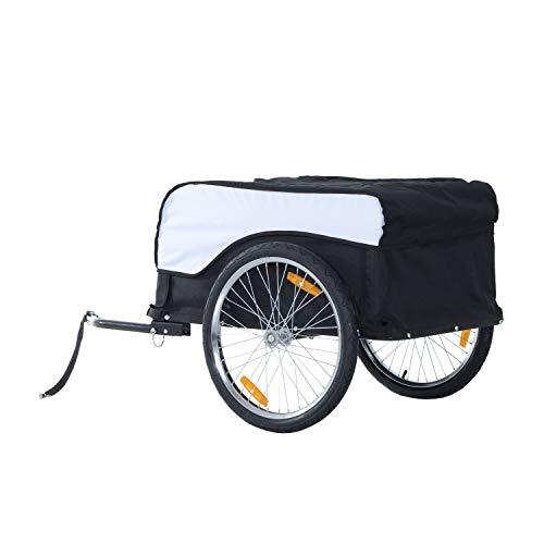 UKB Folding Bicycle Cargo Trailer Shop Luggage Storage Utility Hitch Cover (130L x 77W x 65H cm), 16.7kg