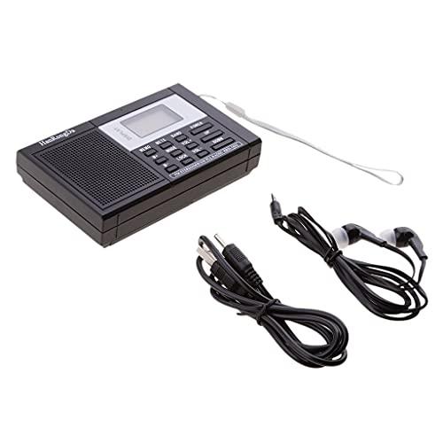 MERIGLARE Receptor de Radio de Banda Ancha Radio Reloj Digital Portátil FM/SW/MW