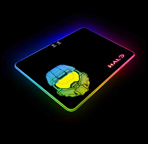 jolimark Halo B RGB Gaming Mouse Pad LED Atmosphere Light Gaming Surface Color Control Anti-Slip Rubber Base Video Game Art Gift Gamer Gifts Birthday