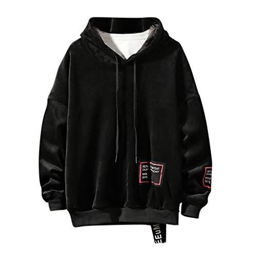 Jacke Herren Schwarz Fashion Joker Einfarbig Hoodie Sweater