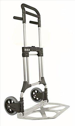 Profi Sackkarre klappbar aus Alu, mit Vollgummi-Reifen, 200 kg Tragfähigkeit, 600x400 mm Ladefläche, für Getränkekisten, Gepäck und mehr
