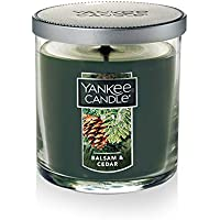 Yankee Candle Small Tumbler Jar Balsam/Cedar Scented Premium Paraffin Grade Candle Wax with up to 55 Hour Burn Time