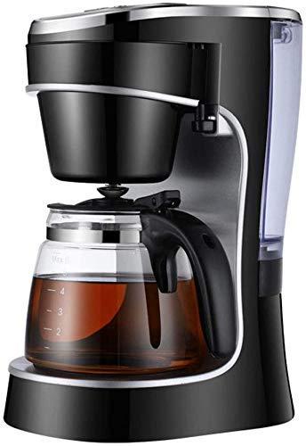HONYGE Máquina de café LXGANG Cafeteras eléctricas 10 Copa programable Inteligente Goteo Cafetera Brew de la máquina con Pantalla de Cristal garrafa LED Digital extraíble Filtro de Malla Cesta Negro