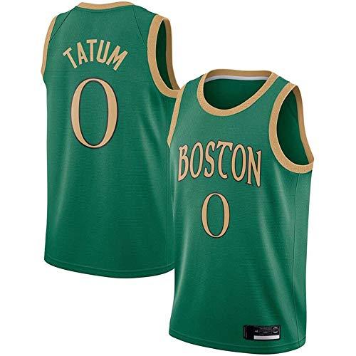 XSJY Männer Retro-Basketball Trikots - NBA Boston Celtics # 0 Jayson Tatum Basketball-Trikot Kühle Breathable Gewebe Klassische Weste T-Shirt,S:165~170cm/50~65kg