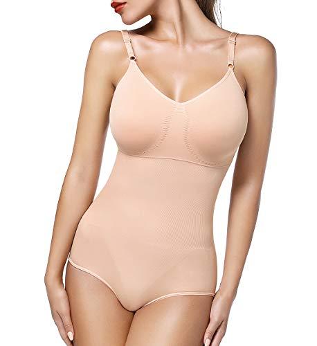 SLIMBELLE Mujer Bodies Moldeadores Lencería Moldeadora Faja sin Costuras Body Reductor Abdomen Adelgazante Corsé Bodysuit Shapewear