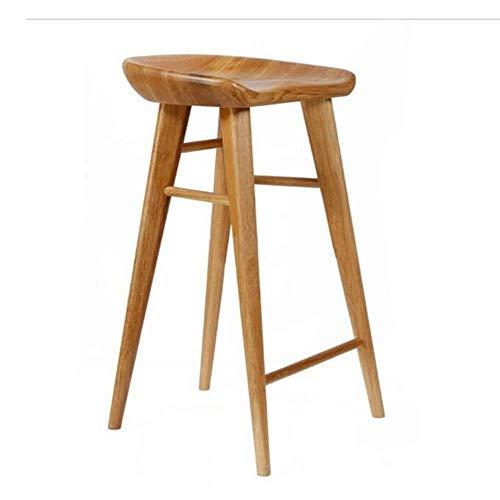 Stoelen en krukken Planken Staafstoel Barkruk Retro Planken Staafstoel Thuis Barkruk Koffie- High Chair, Modern houten barkruk, (55cm, 65cm, 75cm) Hoge Drie, Natural Colours (Size : High 75cm)