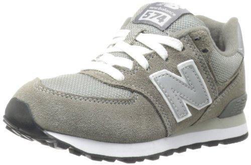New Balance New Balance KL574 Pre Running Shoe (Little Kid),Grey/Silver,1 W US Little Kid