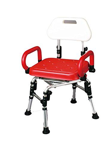 回転式シャワーチェア回転式シャワーチェア (アームレスト・背付き) PEタイプ 座面カバー付
