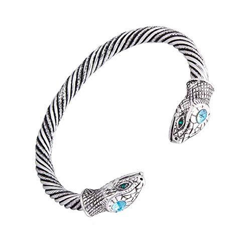 Snake Schraube Kabel Indian Stulpe Weinlese-Armband & Armband für Frauen Liebe Nail Viking Armband-Schmucksachen, Silber