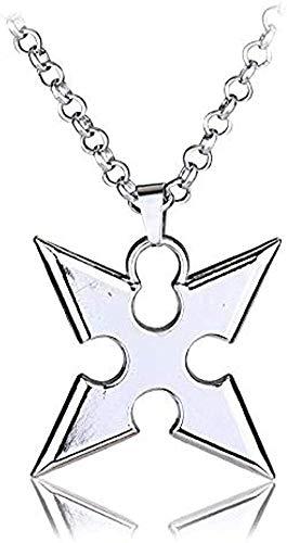 LDKAIMLLN Co.,ltd Collar Moda Juego Caliente Kingdom Hearts Collar Metal Dardo Colgante Accesorios Joyería Regalo Puede Colgante Collar Regalo para Hombres Mujeres Niñas Niños