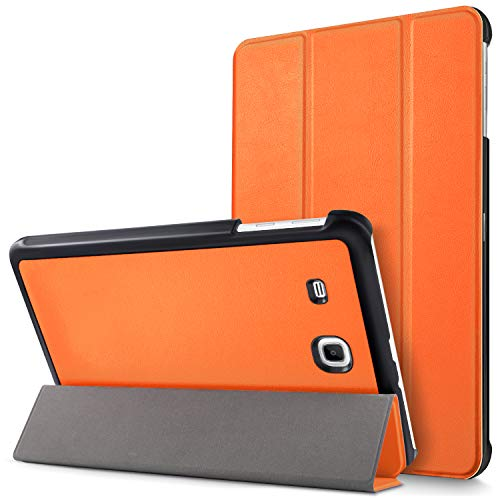 MAMA MOUTH Samsung Galaxy Tab E 9.6 Ultra Custodia, Ultra Sottile di Peso Leggero con Supporto in Piedi Caso Case per 9.6' Samsung Galaxy Tab E 9.6 T560 T561 Android Tablet,Arancione