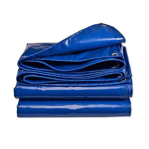 Lona azul impermeable cubierta de alto rendimiento en calidad premium hecha de 550 gramos metro cuadrado lona 5mx3m (color: azul tamaño: 4 & veces; 3 m)