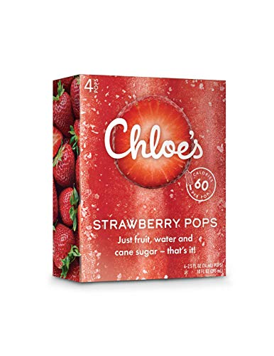 Chloe's Soft Serve Fruit Popsicle Bar, Strawberry, 4 Count (Frozen)