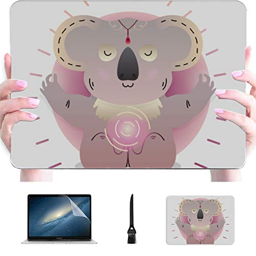 MacBook Pro 15 Case Animal Sitting in Yoga Lotus Pose Plastic Hard Shell Compatible Mac Air 13' Pro 13'/16' A1707 MacBook Pro Case Protective Cover for MacBook 2016-2020 Version