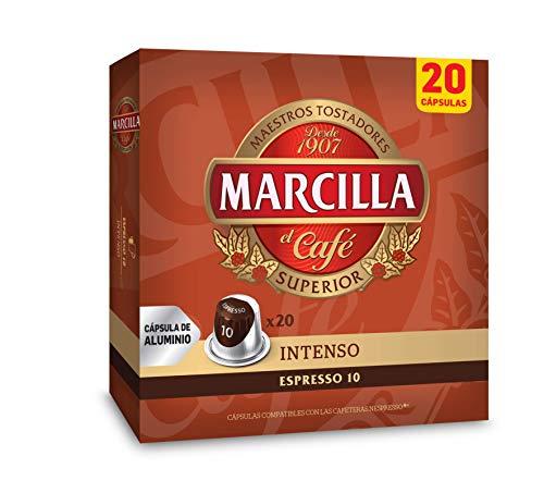 JDE Coffee Marcilla Café Intenso - 200 cápsulas compatibles con máquinas Nespresso (10 paquetes de 20 unidades)