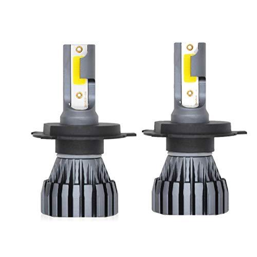 Kit de phares de voiture à DEL, 12 24V 3000ML9005 9006 9012 aluminium de remplacement pour halogène et halogène automobile, gris argenté, 1 pièce,9006