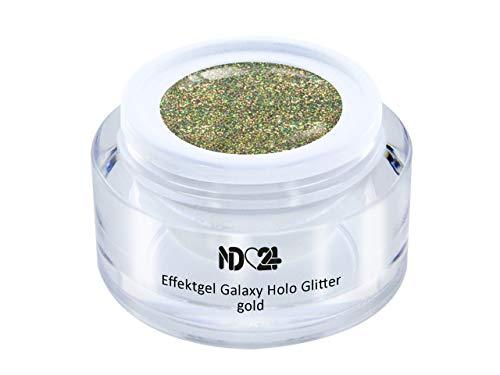 Uv Led Effekt-Gel Galaxy Holo Glitter Gold - Gold - Studio Qualität - Made In Germany - 5ml