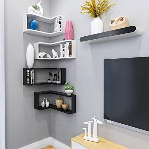Lfixhssf Corner wandrek opslagrek slaapkamer woonkamer eetkamer muur behang plank hoek boekenkast decoratie rand Lfixhssf wit