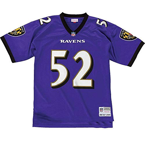 Ray Lewis Baltimore Ravens Mitchell and Ness Men's Purple Throwback Jersey Large