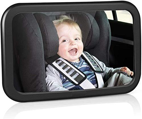 amzdeal Specchietto Retrovisore Bambini, Specchietto Retrovisore Auto Girevole e inclinabile a 360 °, Etichetta Inclusa, Specchietto Retrovisore Sicurezza con Superficie Convessa per un'ampia Visuale