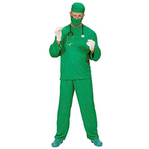 Arzt Kostüm Herren Chirurg OP Kittel XL (54) Doktor Herrenkostüm Fasching Krankenpfleger Arztkostüm Faschingskostüm Scrubs Karnevalskostüm Berufe Mottoparty Verkleidung Karneval Kostüme Männer