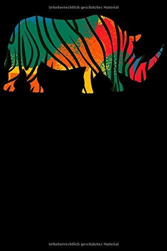 Safari Nashorn Notizbuch: DIN A5 Blanko 120 Seiten Afrika Giraffe Wildnis Raub-Tier Tierliebhaber Wildtier Fell Umriss Leopard Geschenkidee & ... Planer Tagebuch Notizheft Notizblock