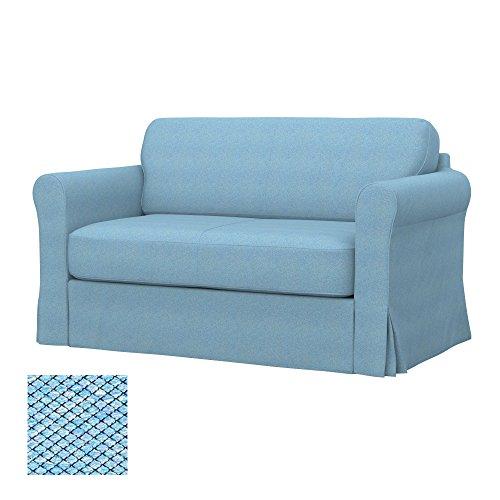 Soferia - IKEA HAGALUND Funda para sofá Cama, Nordic Blue
