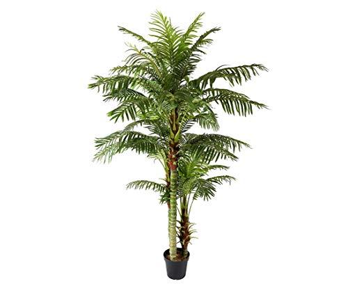 kunstpflanzen-discount.com Arekapalme Hawaii 235cm künstliche Palme mit 45 Wedeln und 3 Stämme