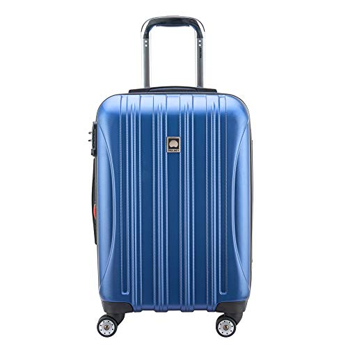 DELSEY Paris Helium Aero Hardside Expandable Luggage with Spinner Wheels, Blue Textured, Carry-On 21 Inch
