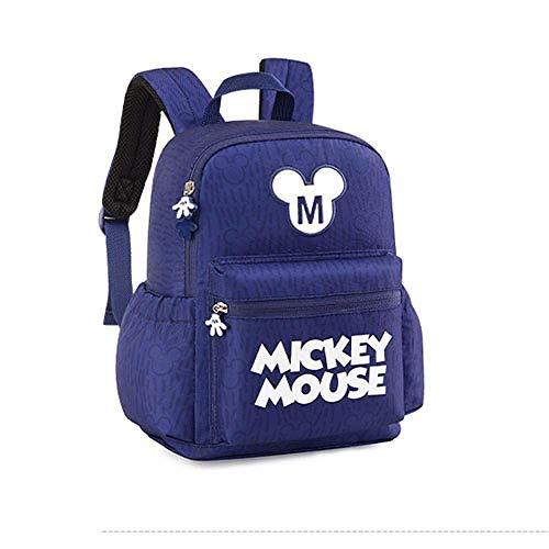 1-3 Years Old Children's Schoolbag Anti-Lost Children's Backpack Waterproof Cute Schoolbag Kid Cartoon Backpack-Navy Blue_29*13.5 * 21.5CM