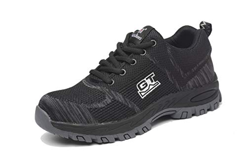 Wasnton Sicherheitsschuhe Damen Herren S3 leichte Stahlkappen Schuhe Arbeitsschuhe 200J verhindern Durchdringungskraft Schutzschuhe