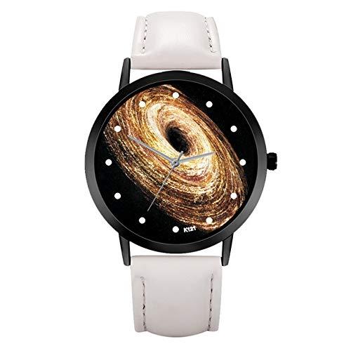 Tongjun Nueva Relojes de Las Mujeres Señora Estrellado Cielo de la fantasía del Encanto del Reloj Agujero Negro Cuero de la Hebilla del Reloj Relojes de Pulsera for la Mujer Reloj de Cuarzo