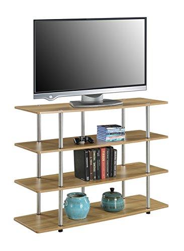 Convenience Concepts Designs2Go XL Highboy TV Stand, Light Oak