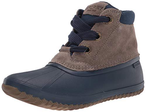 Sperry Women's Breakwater Duck Suede Boot Rain, Navy/Grey, 8