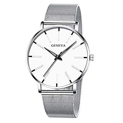 COOKI Mens Watch Ultra Thin Wrist Watches for Men Analog Quartz Dress Watches Stainless Steel Bracelet Business Wristwatch