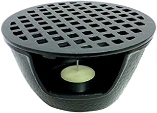 JapanBargain S-1988, Cast Iron Teapot Warmer 5.5 inches Black