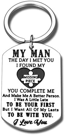 Keychain Gifts for Boyfriend Husband from Girlfriend Wife Valentine Day Christmas Keyring for product image