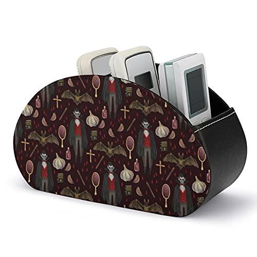 Dracula - Scatola portaoggetti per telecomando, multifunzione, con 5 scomparti per telecomando TV, pennelli da trucco, cancelleria e gadget